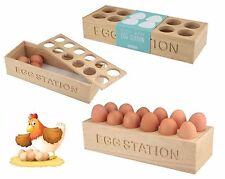 New Hevea 12 Eggs Wooden Egg Storage Station Tray Display Rack Holder 30x11x6CM