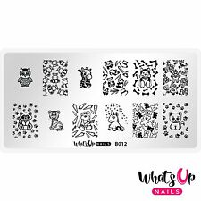 B012 Plushie Pals Stamping Plate For Stamped Nail Art Design