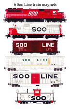 Soo Line Locomotives and Train 6 magnet set Andy Fletcher