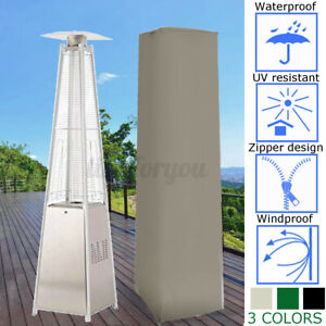 227cm Gas Heater Waterproof Cover Garden Outdoor Pyramid Real Flame Patio
