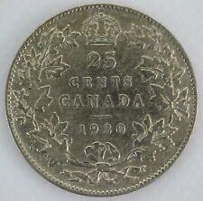 1930 CANADA 25¢ KING GEORGE V SILVER QUARTER COIN