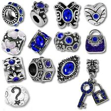 Beads and Charms for European Charm Bracelets Blue September Birthstone