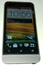 HTC One V - 4GB - Grey (Cricket) Smartphone Cracked Glass Bad WiFi