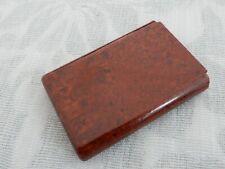 Original Art Deco Brown Bakelite 6 space Pocket Cigarette Case, old estate find