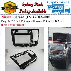 Fascia facia Fits Nissan Elgrand (E51) 2004-2007 Double Two 2 DIN Dash Kit*