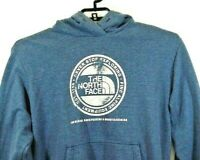The North Face Mens L Hoodie Sweatshirt Blue Gray Never Stop Exploring Size L