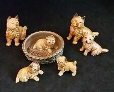 VTG WADE Figurines Lot DOG CAIRN TERRIER DOGS AND PUPPIES Set of 6 ENGLAND #2