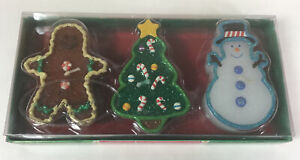 Christmas Snowy Candles Floating By Russ Berrie Co Snowman Gingerbread Man Tree