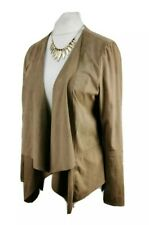 Ladies DOROTHY PERKINS casual suedette open front dip hem jacket SIZE 14 (H151)