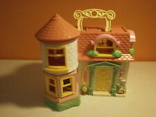 Blue-Box Carry Along Pink & White Victorian Mansion