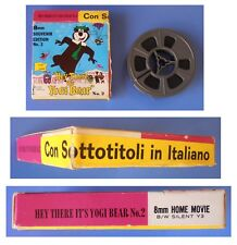 "Orso Yoghi, ""Hey there it's Yogi Bear"" film super 8 b/w sottotitoli in italiano"