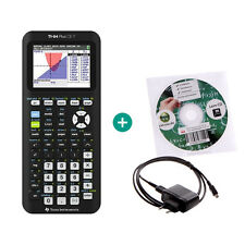 TI 84 Plus CE-T Taschenrechner Grafikrechner + Lern-CD Ladekabel