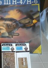HEINKEL 111 H4/H6 1/48 SCALE REVELL MODEL+N.2 PHOTOETCHED PARTS EDUARDS ACCESS.