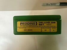 Redding Deluxe 3 Die set 220 Swift series A with a file die included