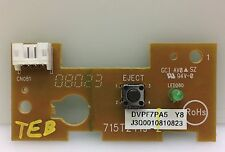 """Philips 32MD357B/37 32"""" TV DVD Player Eject Button Board DVPF7PA5 Y8, 715T2419-2"""