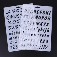 Kit 2x Stencil Alfabeto mascherina lettere numeri decorazione parete pittura