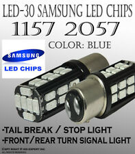 Samsung LED 1157 2057 7528 30W Blue Replace For Front Turn Signal Light Bulb 38L