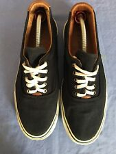 Hush Puppies Men Navy Blue Lace Up Canvas Plimsoll Size 8 (D14).