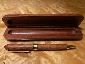 Wooden ballpoint pen in wooden case