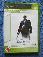 X-BOX gioco Hitman 2-SILENT ASSASSIN (Microsoft Xbox, 2003, DVD-BOX) USK 18