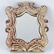 Vintage MIROIR Céramique ACCOLAY 50 Design 20th mirror/vallauris/derel/lembo...