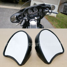 Black Wide Angle Inner Fairing Mount Rear View Mirrors For Harley Street Glide