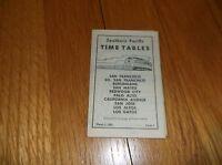MARCH 1958 SOUTHERN PACIFIC SAN FRANCISCO-LOS GATOS PENINSULA PUBLIC TIMETABLE