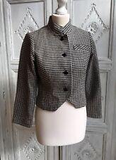 Vintage Jacket by Uli Richter Designer Check/Mod - 1950/60s Size 10-12