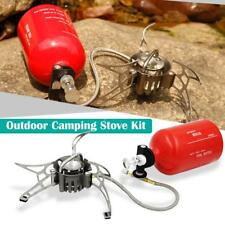 Camping Stove Kit Gas Stove with Empty Gas Tank Windscreen Stove Gas Pump Q7S5