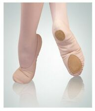 Body Wrappers 246A Adult Size 4.5M Peach Canvas Split Sole Ballet Slipper