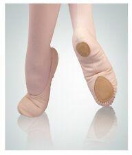 Body Wrappers 246A Adult Size 4.5M Peach Canvas Split Sole Ballet Slipper