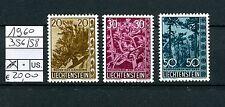Liechtenstein 1960 Serie Alberi ed arbusti MNH