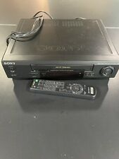SONY VCR VHS PLAYER RECORDER COMPLETE REMOTE +TESTED SLV-679HF