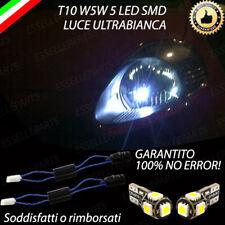 COPPIA LUCI DI POSIZIONE 5 LED FIAT GRANDE PUNTO T10 W5W CANBUS NUOVO MODELLO!