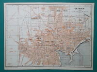 ITALY Sicily Catania City Town Plan - 1911 MAP