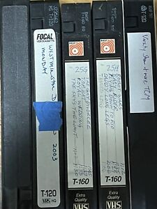 VHS tapes SOLD AS BLANK