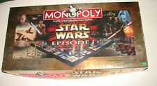 Star Wars Episode I 1 Deluxe Ed. 3D  MONOPOLY complete in great shape    614