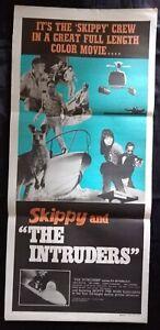 Skippy and The Intruders 1969 Original Australian Daybill Movie Poster