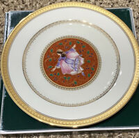"Mikasa Twelve Days Of Christmas Nine Ladies Dancing 9"" Accent Plate Gold Trim"