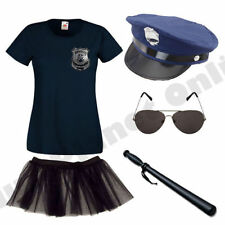 LADIES AMERICAN POLICE WOMAN COP FANCY DRESS COSTUME HEN PARTY.