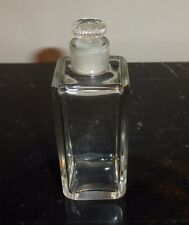 Vintage Glass Perfume Bottle with Glass Stopper 4""