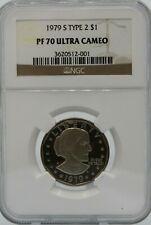 "1979 S $1 TYPE 2 SBA NGC PF70 UCAM  RANKS #73 ""100 GREATEST U.S. MODERN COINS"""