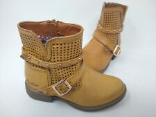 NEW! Skechers Youth Girl's Mad Dash Zip Up Ankle Boots Brown #87849L 201CDE cc