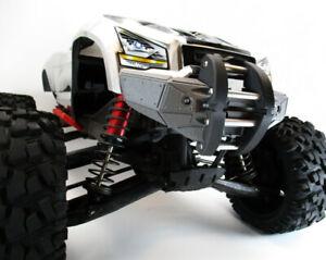 TRAXXAS X MAXX X-MAXX XMAXX 8S CUSTOM FRONT BUMPER WITH RAM AND LIGHTS INCLUDED