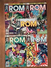 ROM SPACEKNIGHT (ALL NEWSSTAND) #16/17/18/19/20(1ST APP OF MENTUS) MUST SEE!!!