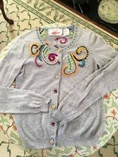 Anthropologie Stretching Sprigs Cardigan Sweater Embroidered Karen Nicol S