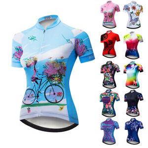 NEW Cycling Jersey Women MTB Tops Riding Bike Jersey Shirt Short Sleeve Clothing