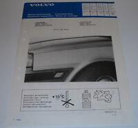 Einbauanleitung Volvo 340 343 360 Zierstreifen Dekor Stripe Stand Dezember 1987!