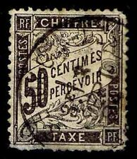 1882-92 FRANCE J21 POSTAGE DUE 50 CENTIMES - USED -F/VF - CV $175.00 (ESP#8523)