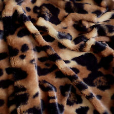 Luxurious Minky Fabric Mink Faux Fur Cheetah Print - 5 Yards